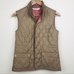 Eddie Bauer Lightweight Goose Down Vest Brown XS